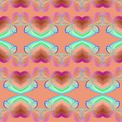 hearts and ribbons - krs_expressions - Spoonflower fabric, wallpaper, gift-wrap