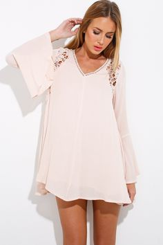 Ash And Ember Dress, Beige, $59 + Free express shipping http://www.hellomollyfashion.com/ash-and-ember-dress-beige.html