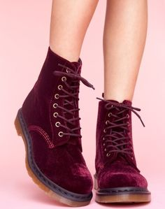 Red velvet doc martens