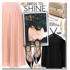 A fashion look from September 2016 by beebeely-look featuring Kate Spade, Sophia Kokosalaki, StreetStyle, romantic, pleated, pleatedskirt y yoins