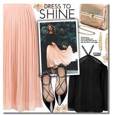 A fashion look from September 2016 by beebeely-look featuring Kate Spade, Sophia Kokosalaki, StreetStyle, romantic, pleated, pleatedskirt y yoins