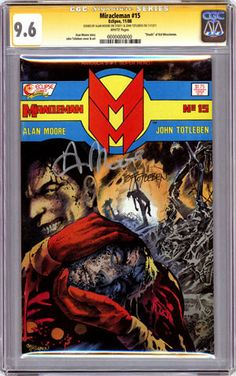 Incredibly rare CGC Signature series comic signed by Alan Moore. Less than 90 comics are thought to exist that are signed by Moore (CGC witnessed) and slabbed with yellow labels.    Click on the picture for more information...