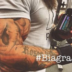 """Derek Weida loves the pump and performance he gets from his #AlphaSurgeDRV or as he refers to it... his """"#biagra"""" LOL So if you too wanna go longer and harder in your workout pick some up and you won't be disappointed #nextlevelshit"""