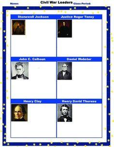 Printables Civil War Timeline Worksheet civil wars homework and timeline on pinterest war leaders student worksheetprintablehomework