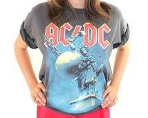 Vintage ACDC Shirt 90s Tee