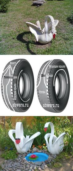 These Tire Ideas for Backyard are easy to recreate and look great. You are going to adore these projects and we have something for everyone. Backyard Projects, Outdoor Projects, Garden Projects, Tire Craft, Tire Furniture, Tire Garden, Tire Planters, Used Tires, Tyres Recycle