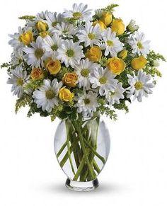 Resultado de imagen para arreglo floral margaritas