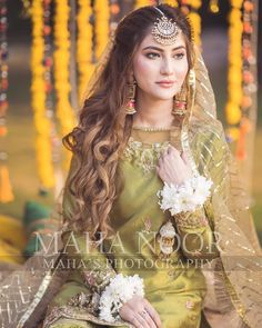 Maryam's Dholki #mahasphotography  @mahawajahatkhan #weddingphotography  @hiraanwer3 MUA @faizas.salon Decor @dreamcreationsibd… Pakistani Bridal Hairstyles, Pakistani Wedding Outfits, Pakistani Wedding Dresses, Pakistani Mehndi Dress, Lehenga Wedding, Indian Outfits, Wedding Hairstyles, Asian Bridal Dresses, Bridal Mehndi Dresses
