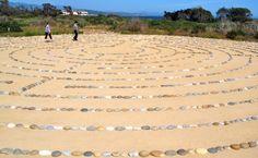 The Labyrinth Trail on Lagoon Island. UCSB, Santa Barbara, CA.