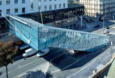 Passarela de vidro em Viena, Austria