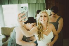 bridal selfie! (love her iphone case too!) | Chantal Marie Photography on ohlovelyday.com