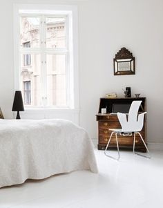 White and Minimal, with touches of antiques