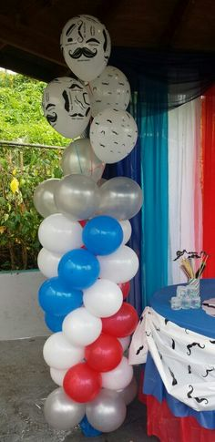 Barber shop balloons deciration by me €£@♥ Irving birthday