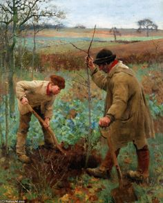 ✿Working Day✿ Sir George Clausen ~ 'Planting A Tree'