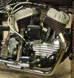 flathead harley   ... 45 cubic inch capacity Harley Flathead engine.Note the clutch lever