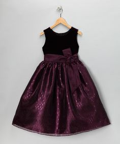 Take a look at this Plum Sleeveless Dress - Girls by C.I. Castro & Jayne Copeland on #zulily today!