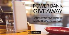 OnePlus sortea 100 Power Bank de 10.000 mAh durante 12 horas