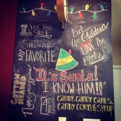Love the Christmas Chalkboard walls - this is my favorite but there are 25 total walls!