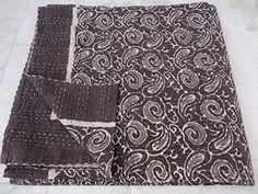 Elephant Patchwork Kantha India Handmade Twin Vintage Blanket ... : quilt india - Adamdwight.com