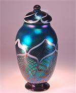 Custom Hand Blown Glass Urns by Artist Rick Strini