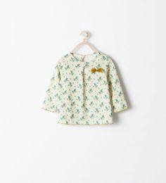 ZARA - SALE - PRINTED T-SHIRT WITH BOW