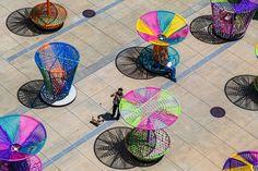 'Los Trompos' installation, High Museum of Art by Esrawe+Cadena, photo: Jonathan Hillyer