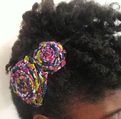 beautiful african fabric flowers