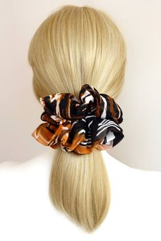 Hot Satin Silk Solid Color Hair Tie Elastic Scrunchie Hair Deco Ponytail Holder