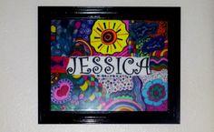 Art Artwork11x14  Free Shipping Affordable Original by Zedezign, $50.00 #baby #nursery #art