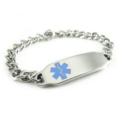 MyIDDr - Pre Engraved - Hypoglycemia Medical Alert ID Bracelet, Light Blue Symbol *** ADDITIONAL DETAILS @ http://www.ilikeboutique.com/boutique/myiddr-pre-engraved-hypoglycemia-medical-alert-id-bracelet-light-blue-symbol/?a=0278