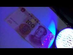 100lamps uv flashlight 395NM Money Detector for 6*AA batteries $20.85/pcs - YouTube