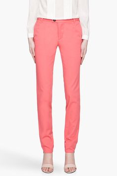 A.P.C. Coral pink three-pocket trousers