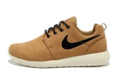Black Friday Deals_Nike Roshe Run Suede Camel Mens White Black Buy UK