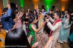 Everybody dancing at sangeet ceremony http://www.maharaniweddings.com/gallery/photo/106981 @electrickarma @chrismbrock/wedding-photography @electrickarma