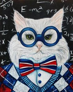 New Series  Cats in Clothes Paintings Mr Peepers  by k Madison Moore, painting by artist k. Madison Moore
