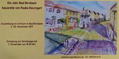 Aquarell-Ausstellung in Bad Birnbach im November 2017 - Kunst - Nadia Baumgart
