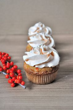 Seabuckthorn Mousses Cupcakes