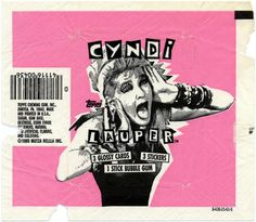 1985 Cyndi Lauper Bubble Gum, Cards & Stickers - I STILL have an unopened pack in my dresser drawer!