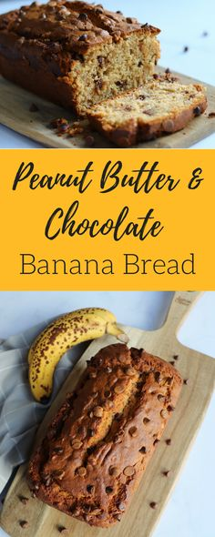 Peanut Butter & Chocolate Banana Bread – Curly's Cooking
