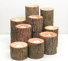 Tree Branch Candle Holders I Rustic Wood Candle by WorleysLighting, $45.50
