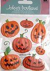 JOLEES BOUTIQUE FUNNY PUMPKINS Halloween Scrapbook Craft Sticker Dimensional