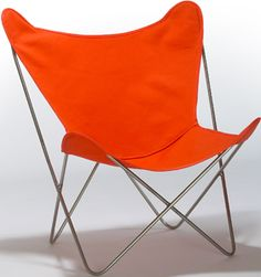 We still have our butterfly chairs from before I was born. Of course we had to have the fabric recreated at $50 per a few times. Brings back memories of the summer reading list in high school and lounging in these all day for a week right before class was to let back in.