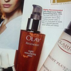 Olay regenterist night resurfacing elixir.