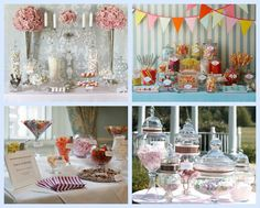 wedding candy buffett | If you are styling the buffet yourself you need to decide on the ...