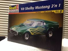 Revell  '69 Shelby Mustang  2 n 1 Model Kit 1/25th 1998 Release #Revell
