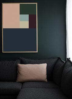 DECOR INTERIORS ART COLORS - 2014 Home Trend - Oversized Wall Art