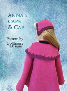 Anna's Cape And Gown From Frozen | 39 American Girl Doll DIYs That Won't Break The Bank