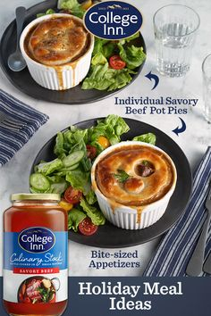 Try this tasty recipe for Individual Savory Beef Pot Pies from College Inn. Chicken Parmesan Recipes, Healthy Chicken Recipes, Pork Recipes, Cooking Recipes, Beef Pot Pies, Bloody Mary Recipes, Frittata Recipes, Scallop Recipes, Sangria Recipes