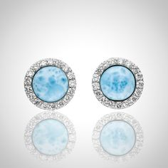 In stock: When it´s supposed to be a classy but stylish statement: LAURA BONETTI ´Canoa´ Larimar Stud Earrings. ONLINE available at http://larimar.com/