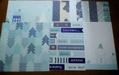 Scrapbooking papers 12 x 12 12 count winter design #Unbranded